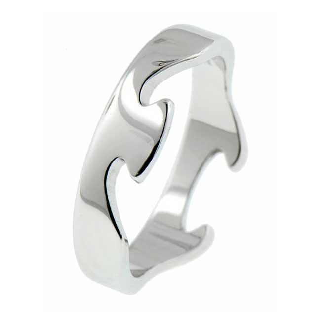 Fusion Ring i Vitguld