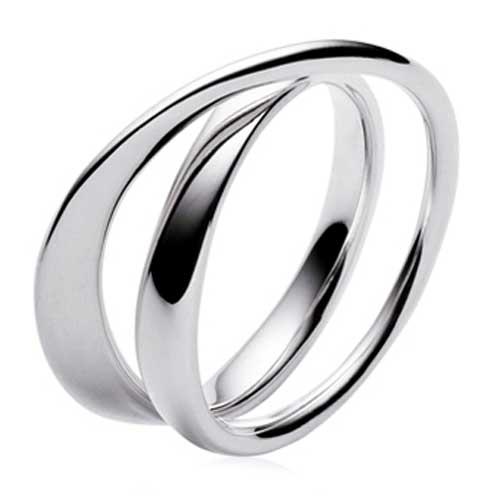 Georg Jensen Möbius Silver Ring