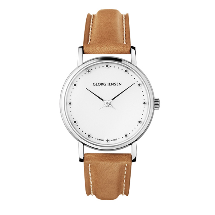 Georg Jensen Koppel 424 Armbandsur, Brun