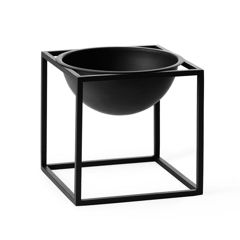 Kubus Bowl Skål Small, Svart, by Lassen