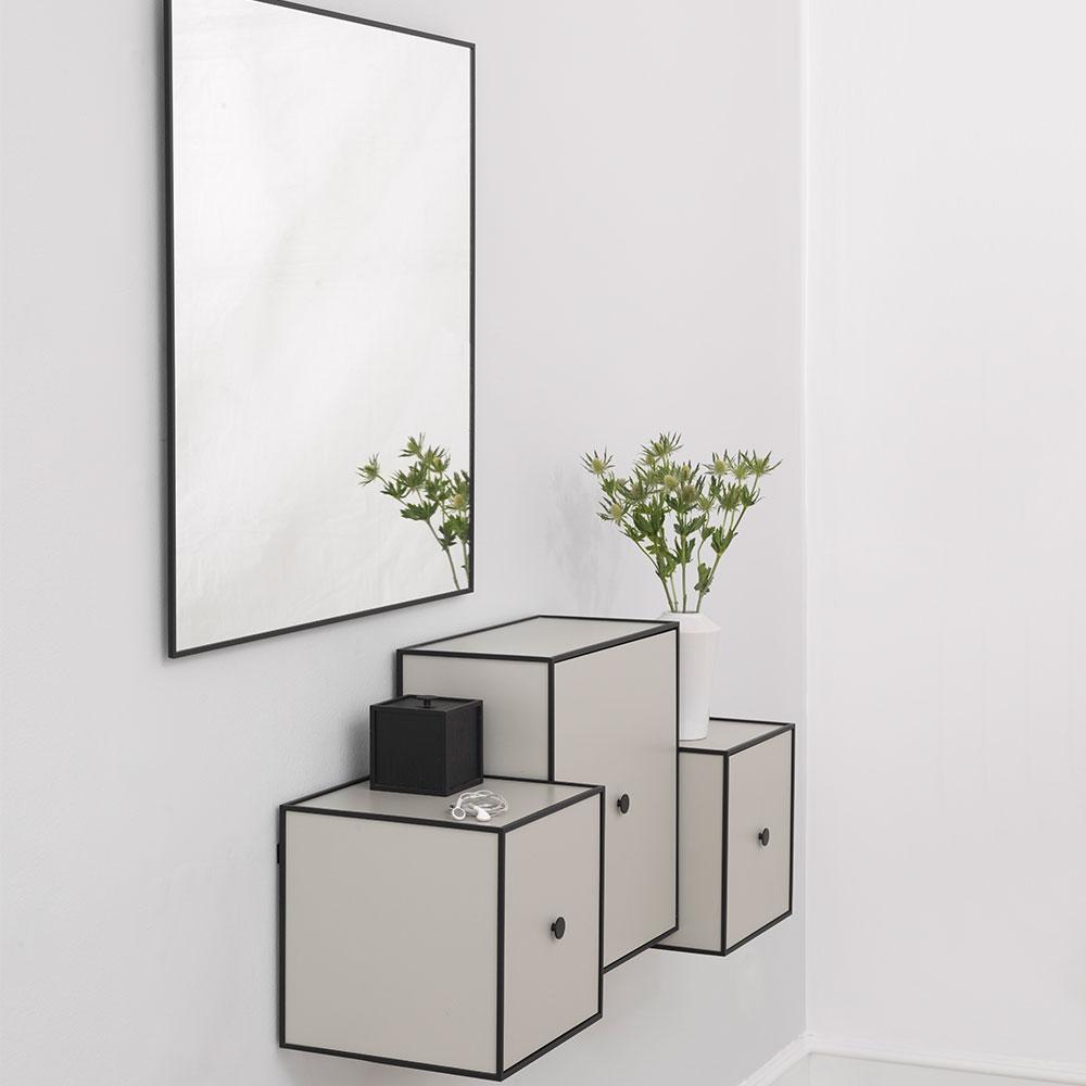 View Spegel 70x70cm, Svart, by Lassen