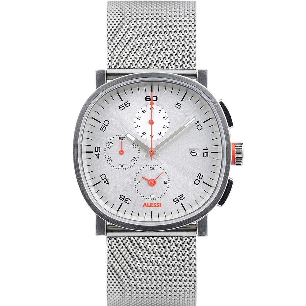 Cronograph Armbandsklocka, Silver