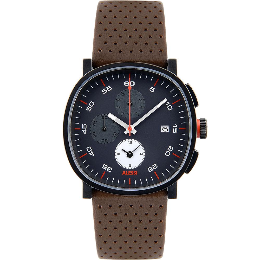Cronograph Armbandsklocka, Brun