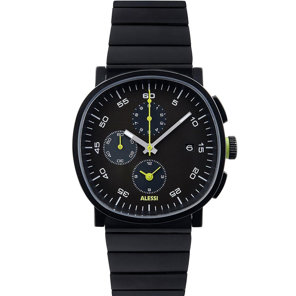 Cronograph Armbandsklocka, Svart