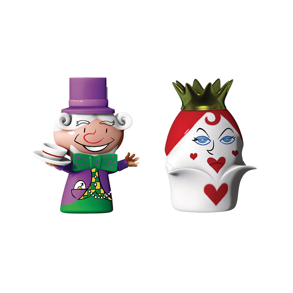 Hatter & Queen Hearts Porslinsfigurer