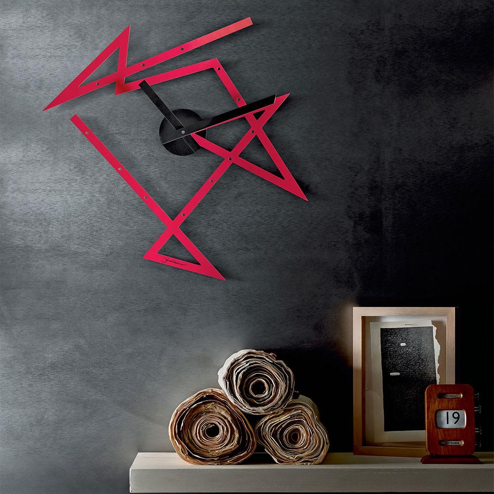 Time Maze Väggklocka, Röd