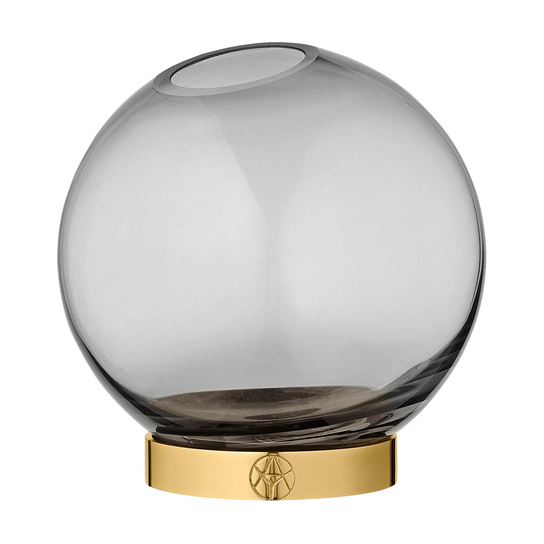Globe Vas Ø17cm, Svart/ Mässing, AYTM
