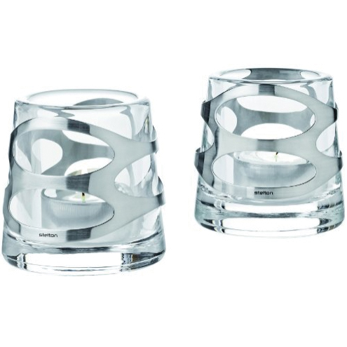 Embrace Värmeljusstake Glas/Rostfritt stål 2-Pack