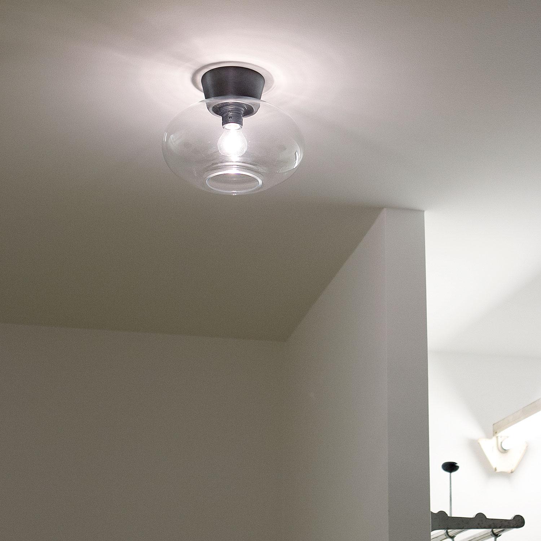 Bullo Plafond IP21, Oxidgrå, Belid