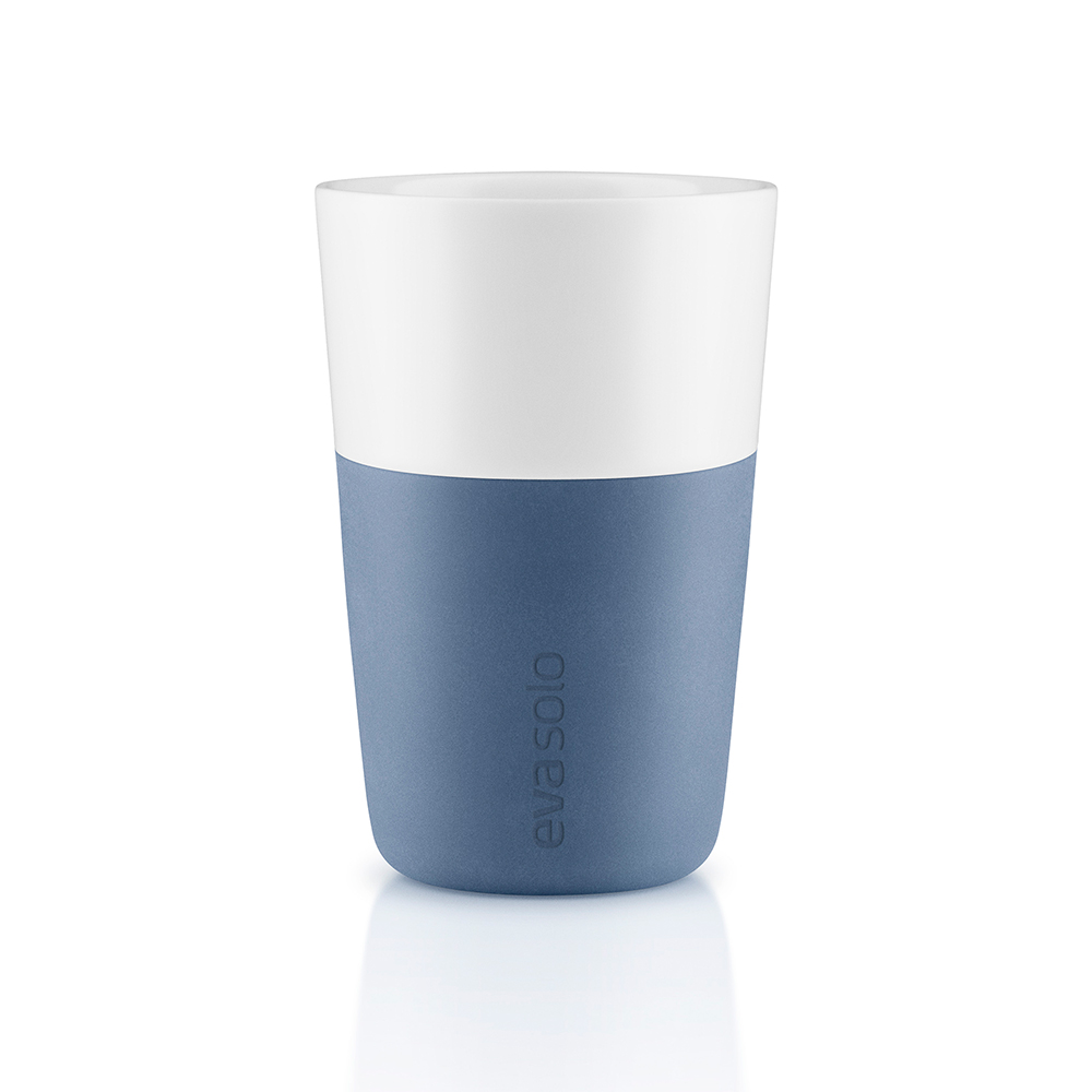 Caffelattemugg 2-Pack Moonlight Blue