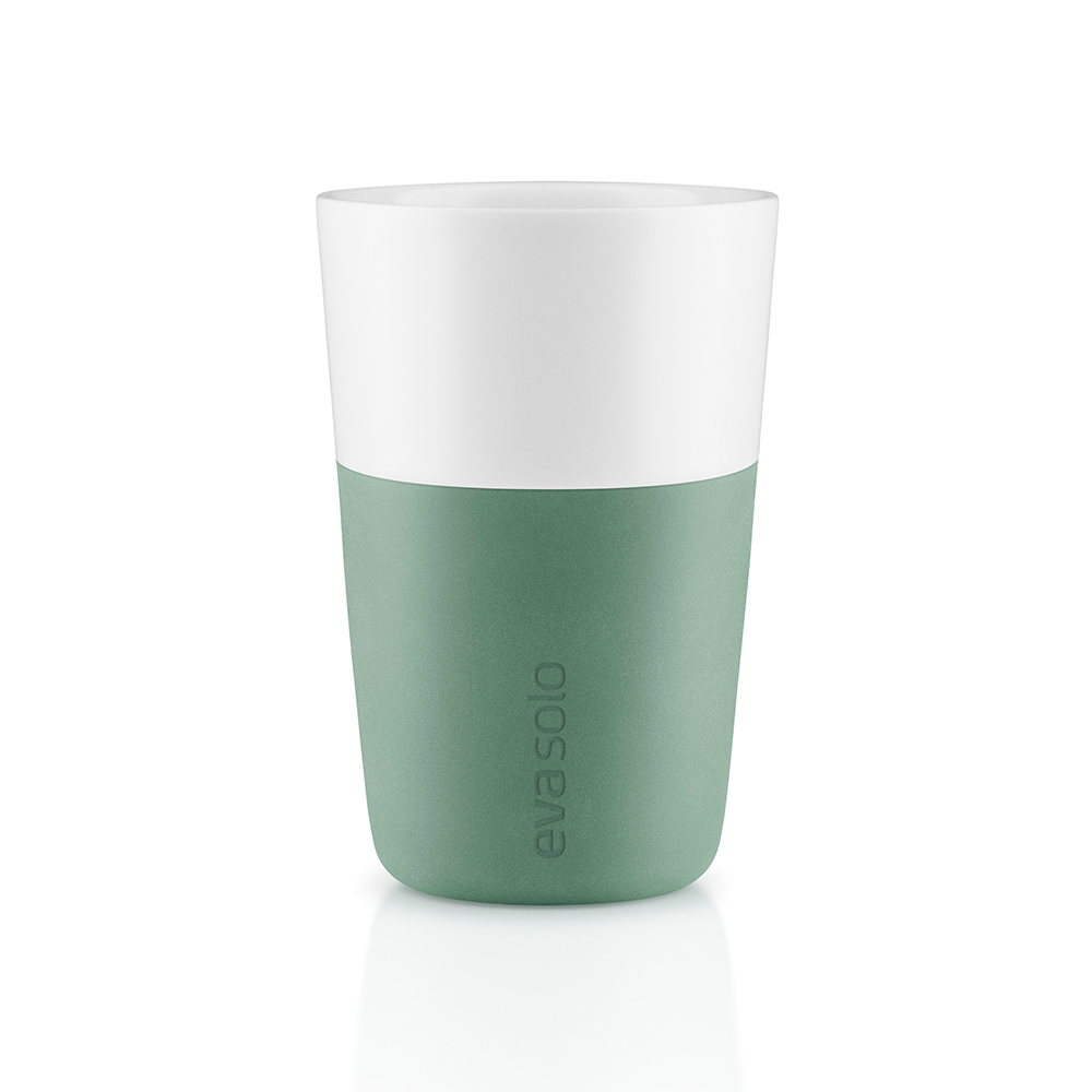 Caffelattemugg 2-Pack Granite Green