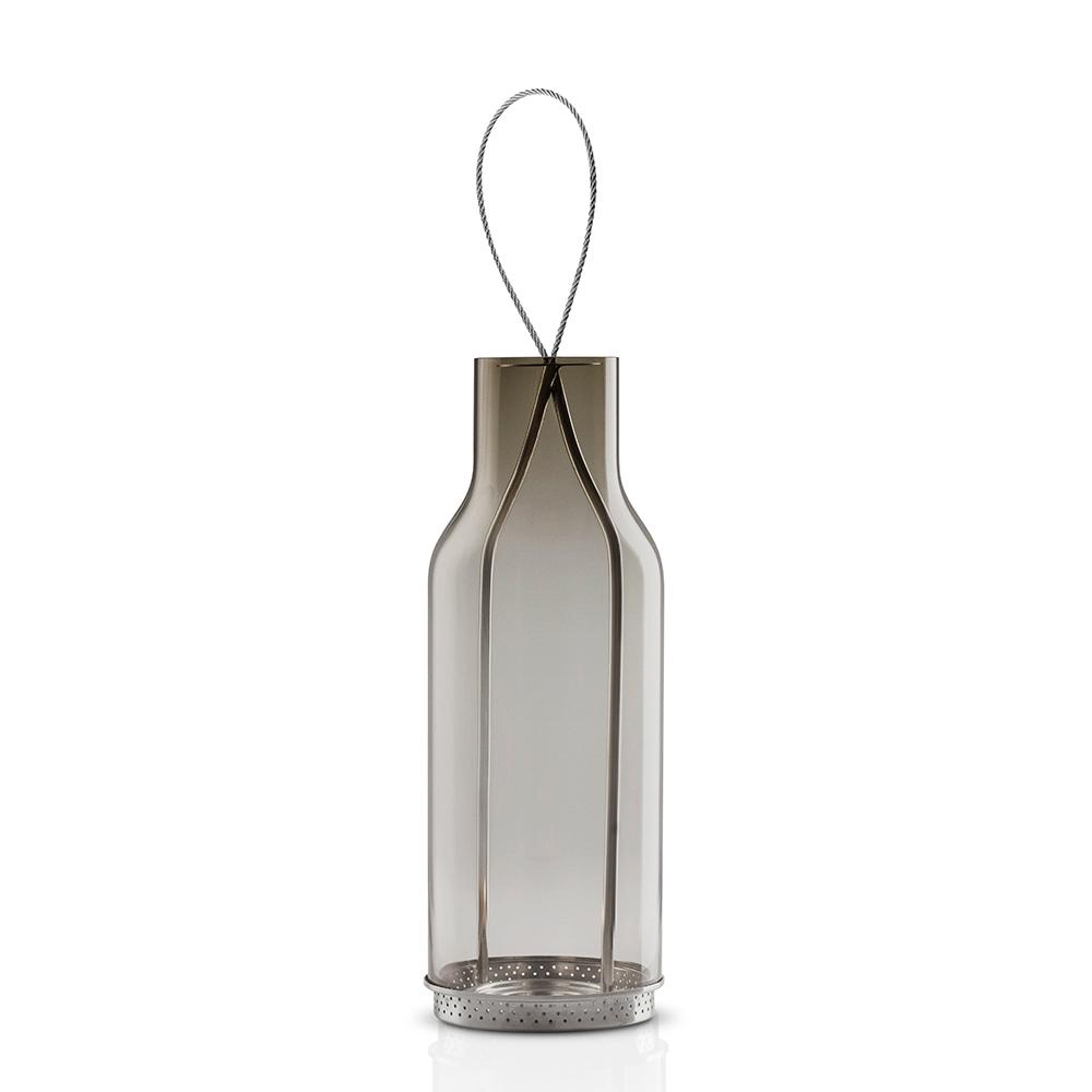 Lanterna Glas 20cm, Grå
