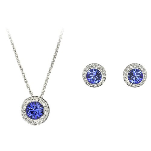 Angelic Sapphire Set Halsband och Örhängen