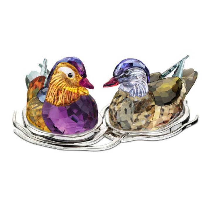 Mandarin Ducks Topaz, 2-Pack, Swarovski