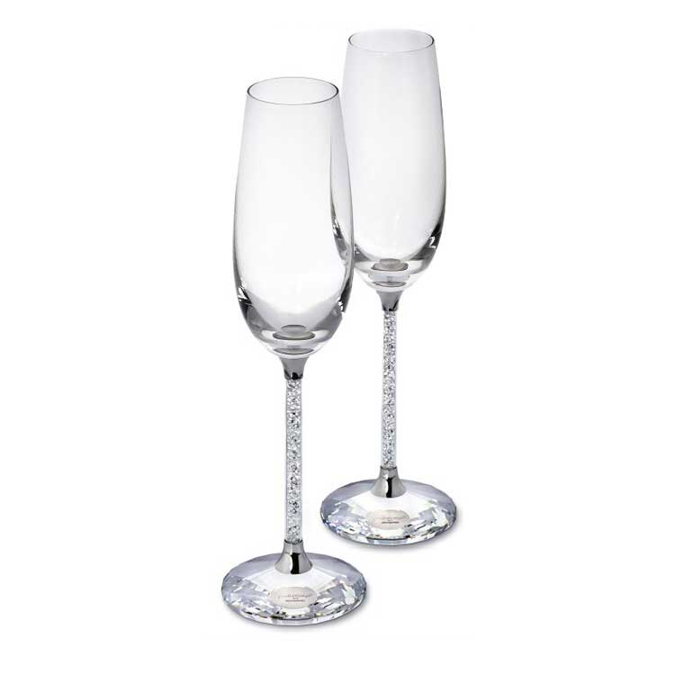 Crystalline Champagneglas, 2-pack, Swarovski