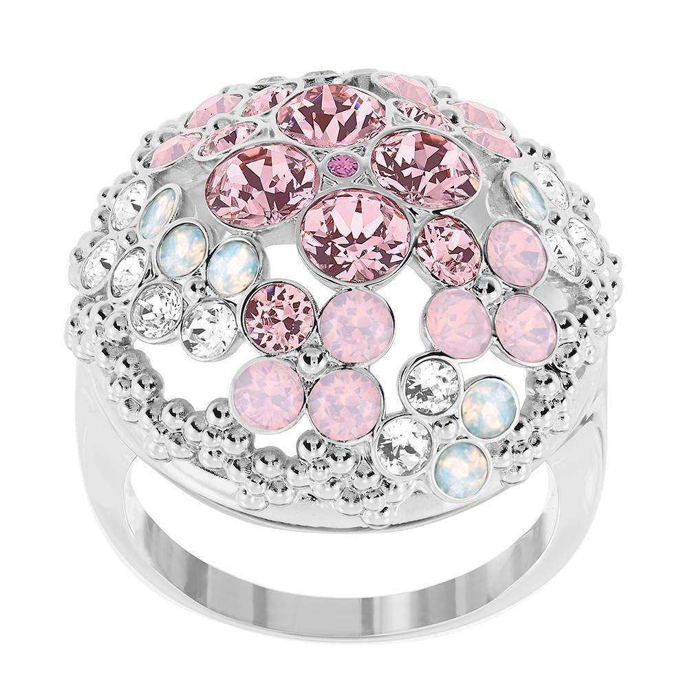 Cinderella Ring Rhodium/Ljus Kristall