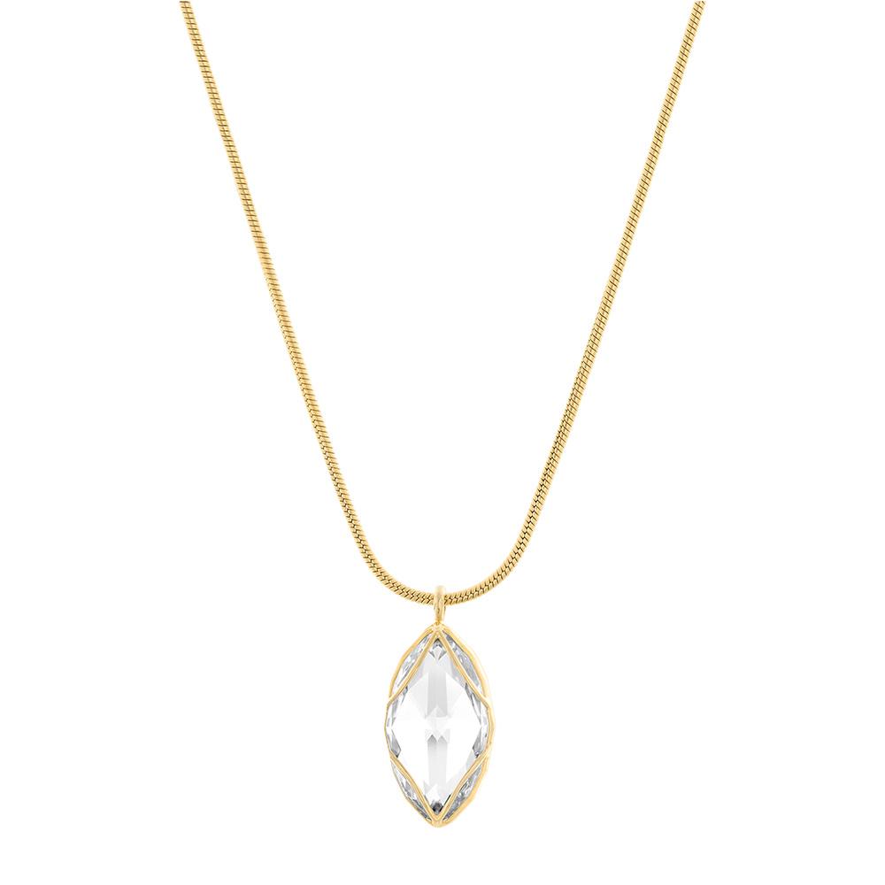 Citrus Halsband Guld PVD/Kristall