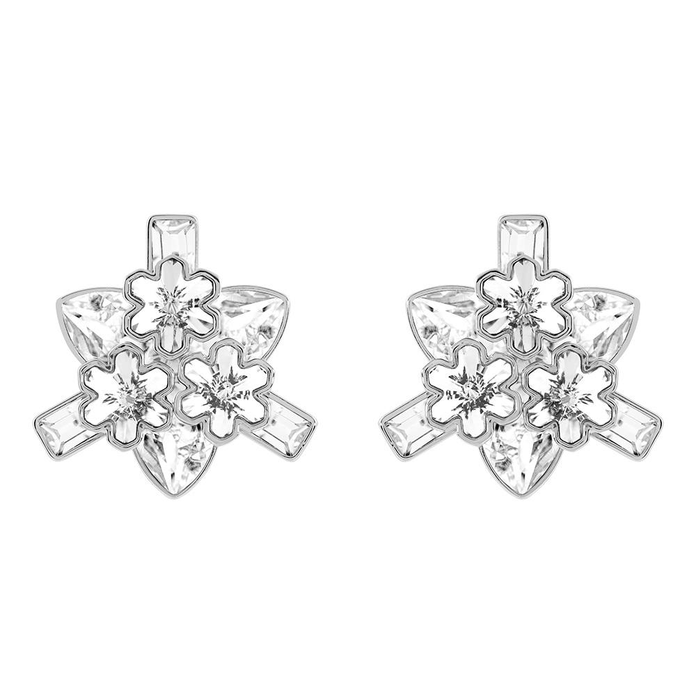 Carly Örhängen Rhodium/Kristall