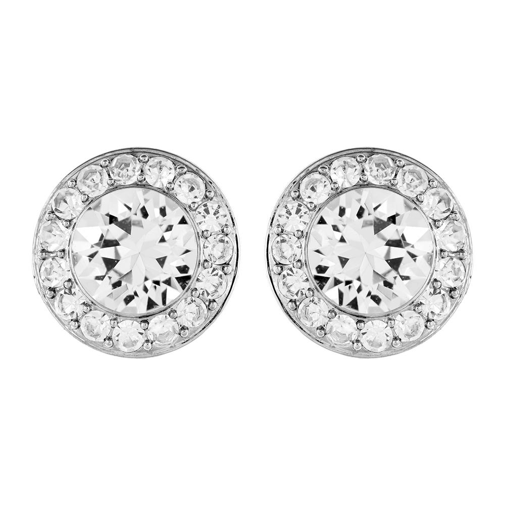 Angelic Pärl Örhängen Rhodium/Kristall