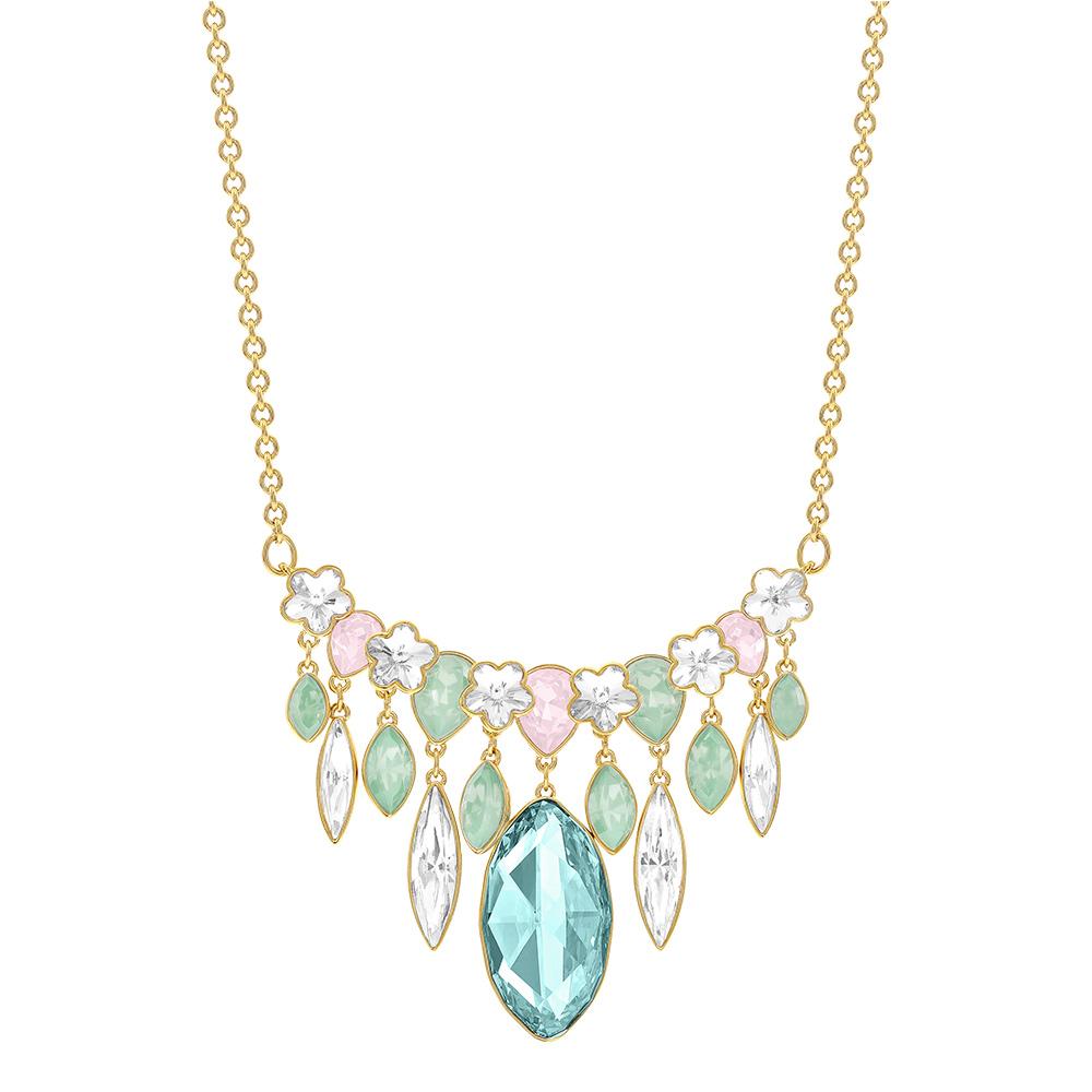 Claw Halsband Guld PVD/Ljus Kristall