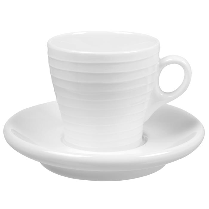 Blond Espresso kopp med Fat Randig