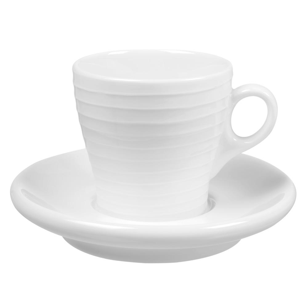 Blond Cappuccino kopp med Fat Randig