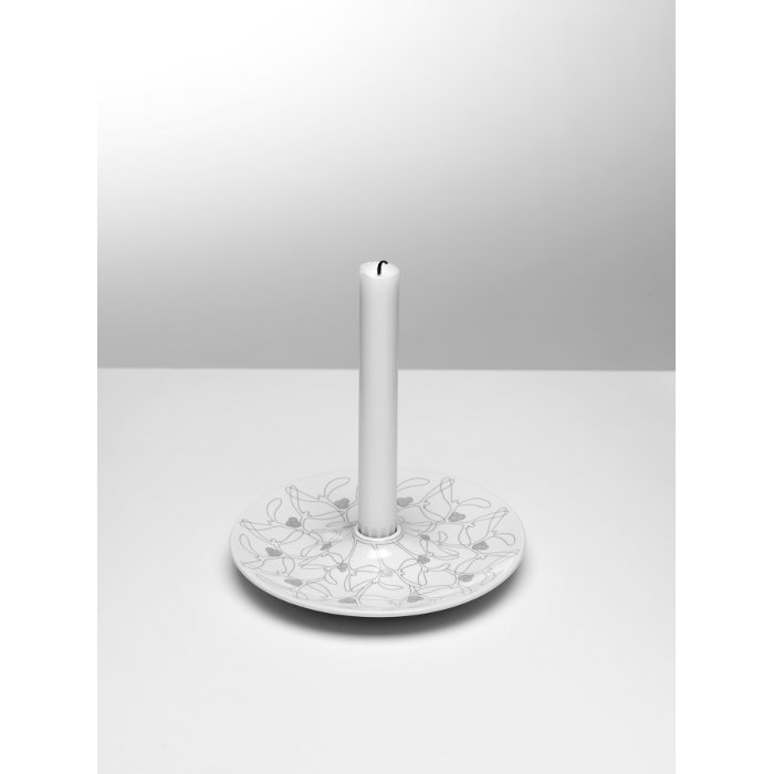 Mistel Ljusstake Vit/Silver