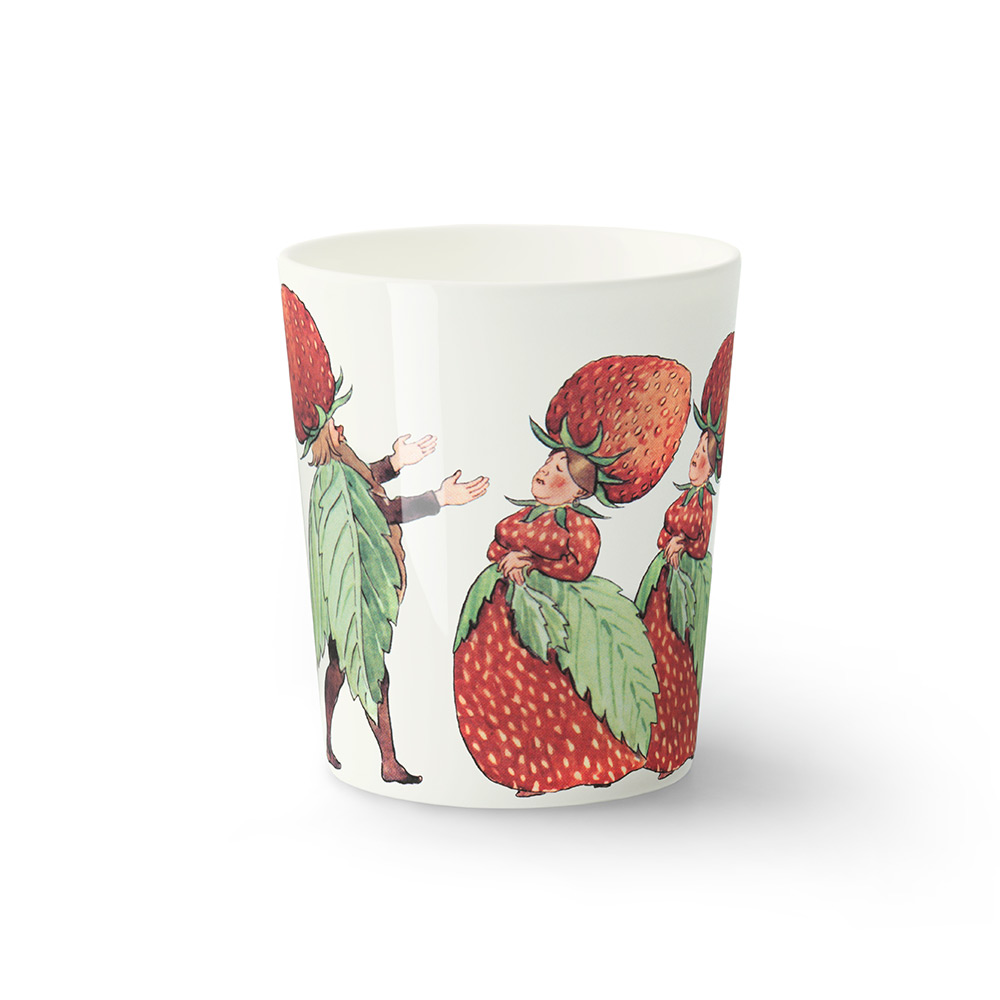 Elsa Beskow Mugg Strawberry Family 28cl