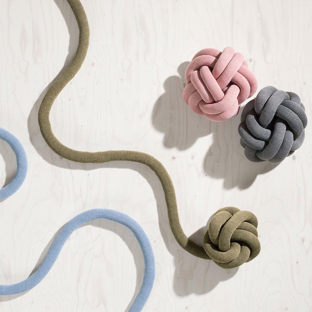 Knot Kudde, Grå, Design House Stockholm