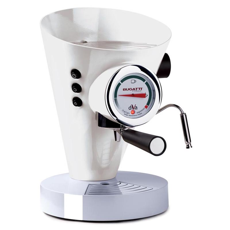 Diva Kaffe/Espressobryggare Vit