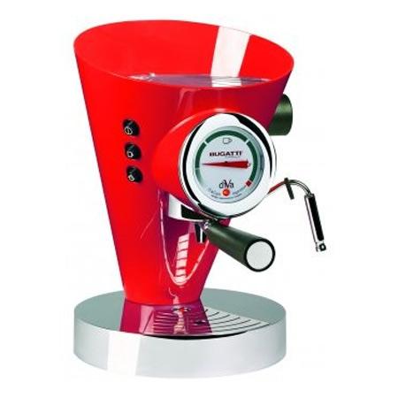 Diva Kaffe/Espressobryggare Röd