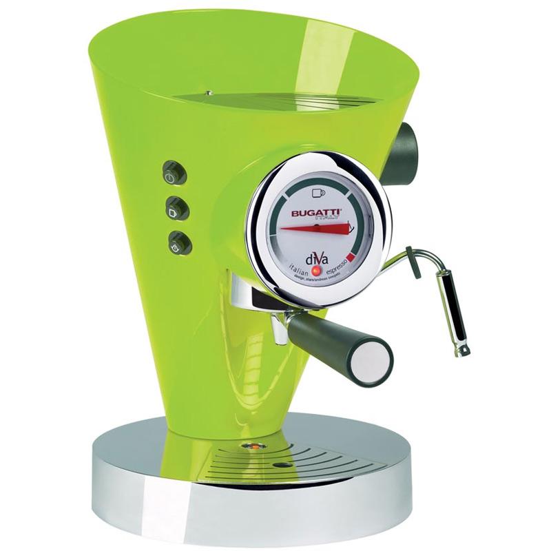 Diva Kaffe/Espressobryggare Äppelgrön