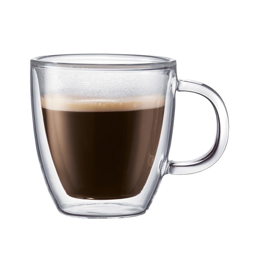 Bodum BISTRO Dubbelväggad Espressomugg, 30 cl, 2-Pack