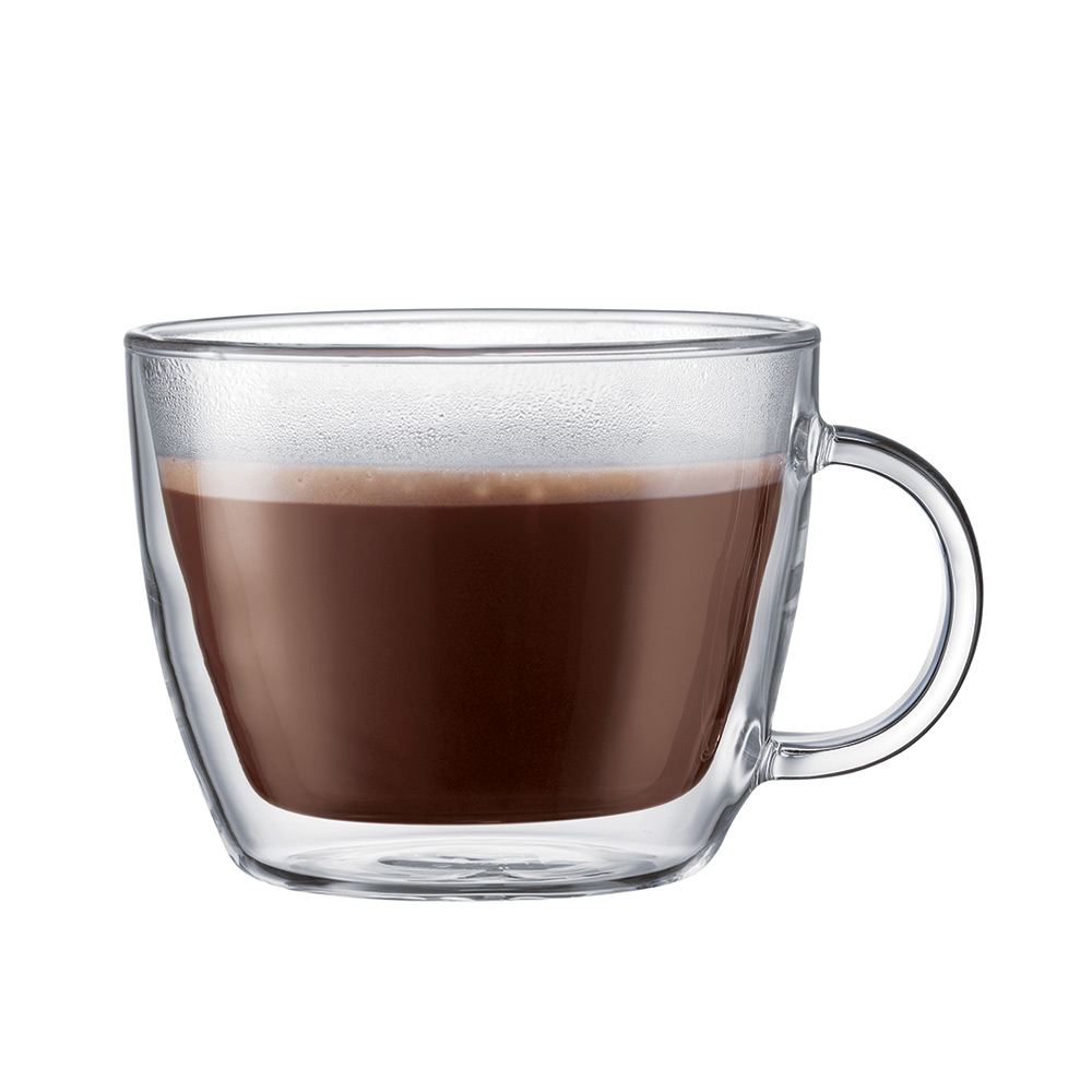 Bodum BISTRO Dubbelväggad Latte Glas Med Handtag. 2-Pack