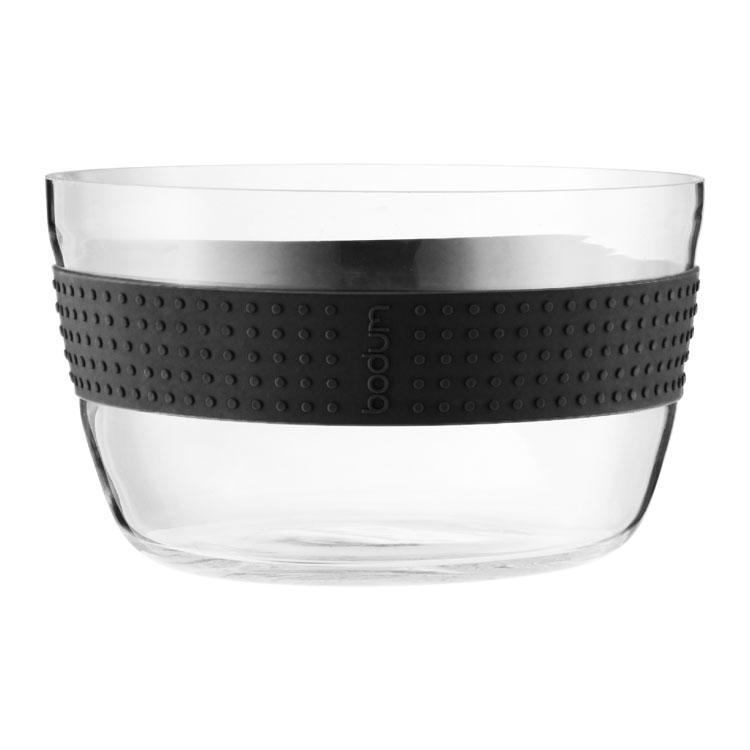 PAVINA Salladsskål i Glas 21 cm, Svart