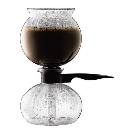 PEBO Vakuum Kaffebryggare 8 Koppar Svart