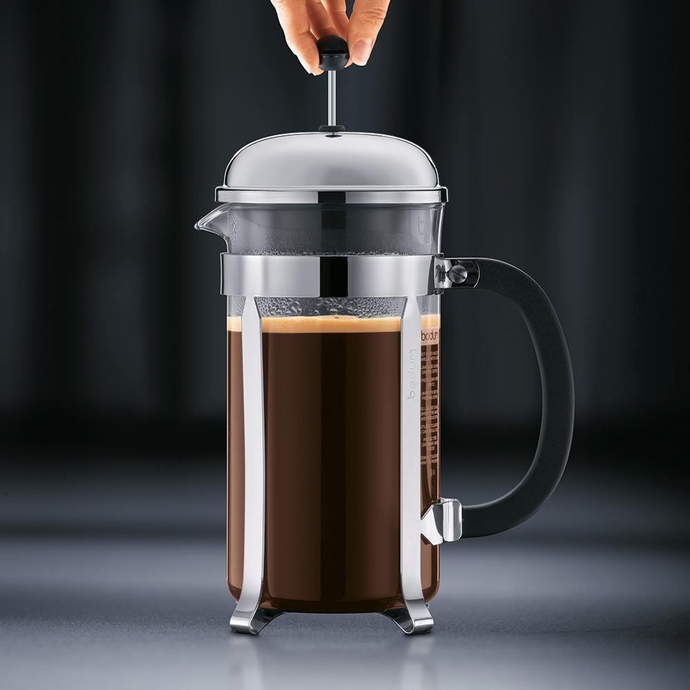 CHAMBORD Kaffepress 3 koppar, Krom - Bodum - Bodum - RoyalDesign.se