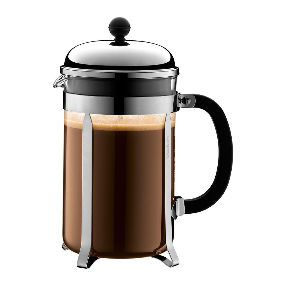 CHAMBORD Kaffepress 12 koppar, Krom - Bodum - Bodum - RoyalDesign.se