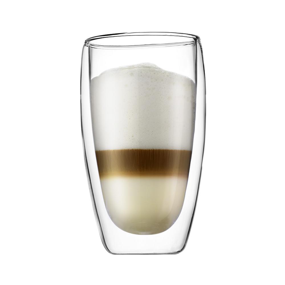 Bodum PAVINA Dubbelväggad Kaffe Glas, 2-Pack