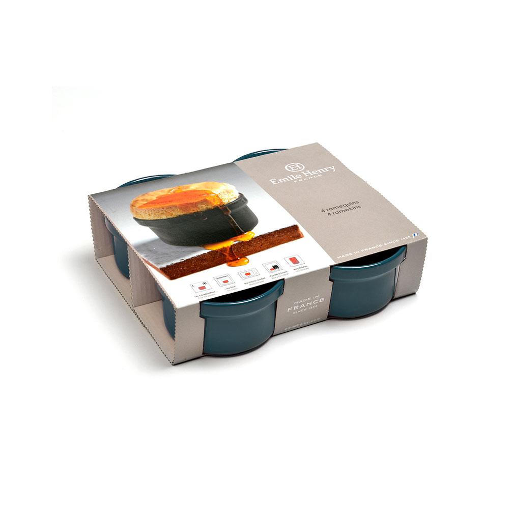 Ramekin/Ungsform 4-pack Gråblå