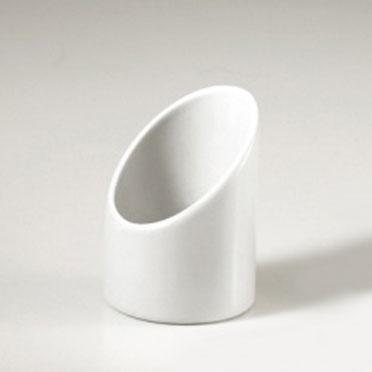 Cylinder skål Vit