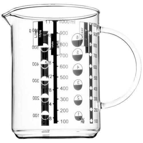 Måttbägare/kanna i glas 1,0 l