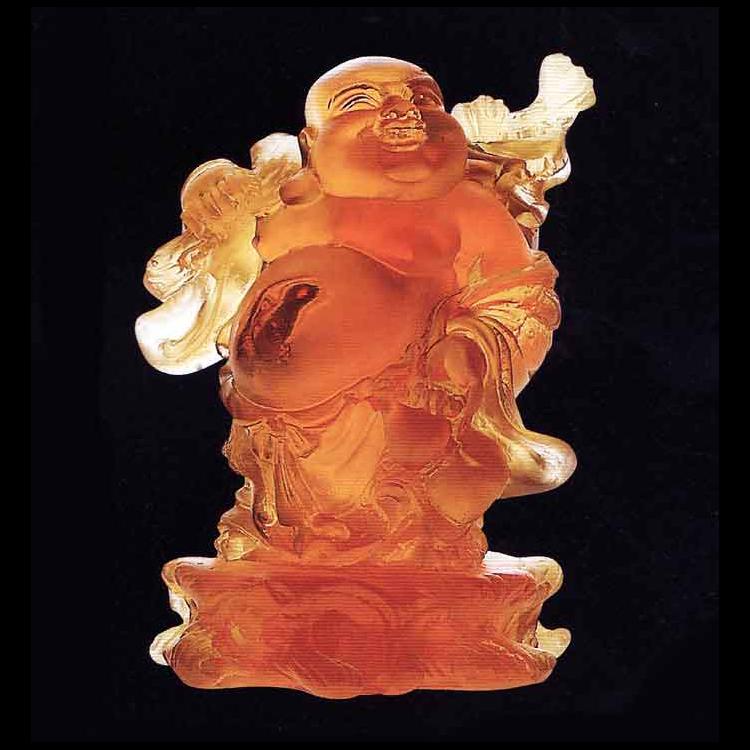 Buddha Stående, Bärnsten