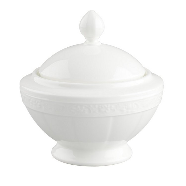 White Pearl Socker-/Syltskål 6 pers. 0,35l