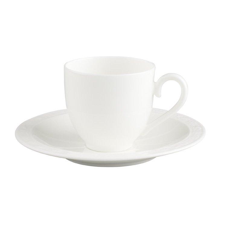 White Pearl Espressokopp och fat
