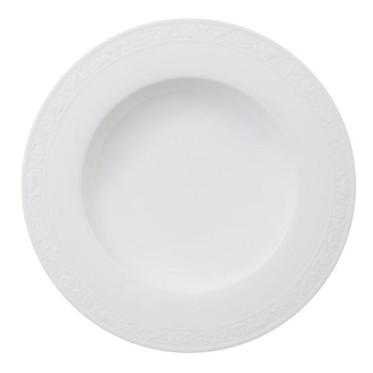 White Pearl Tallrik Djup 24cm