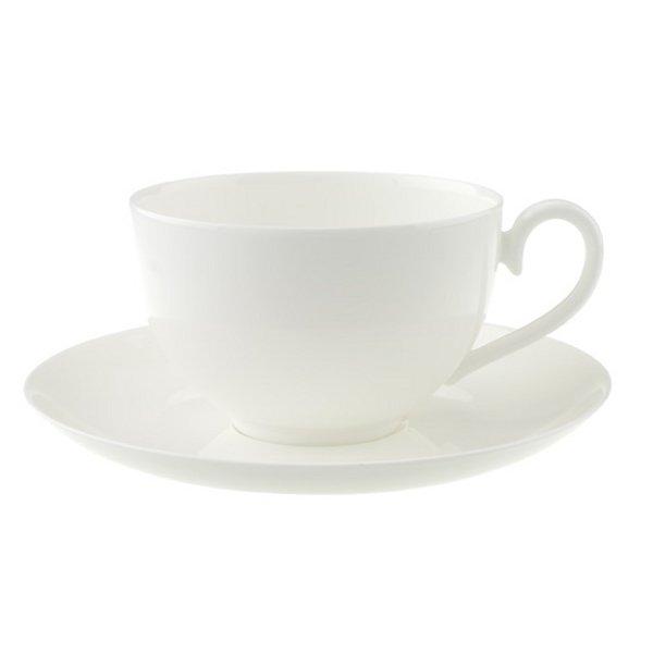 Villeroy & Boch Royal Vit kaffekopp och fat
