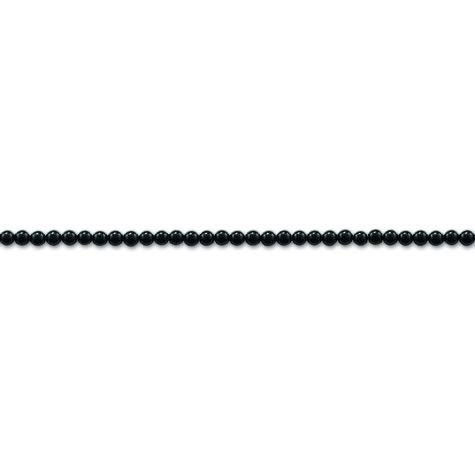 Thomas Sabo Halsband med ringlås, Svarta runda onyx stenar