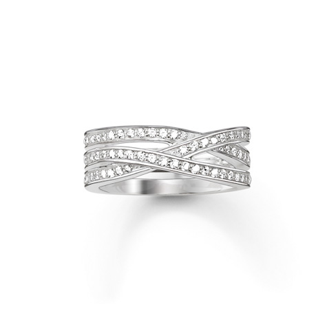 Glam & Soul Ring Vit Zirconia Silver