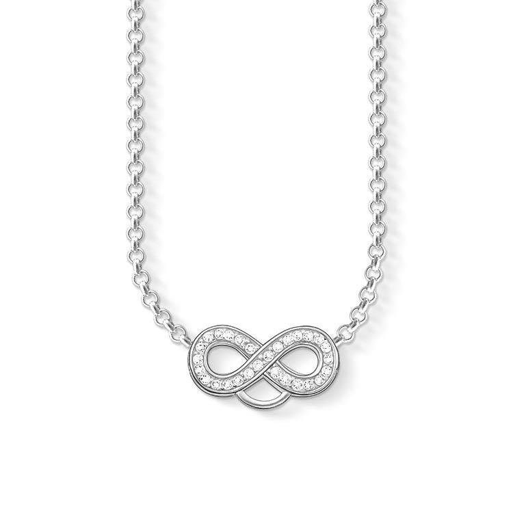 Charm Club Halsband Justerbar Vit Zirconia